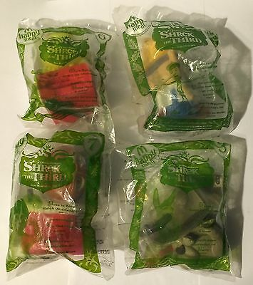 McDonalds Shrek The Third Lot of 4 Sealed Match Up Challenge Toys Puss In Boots