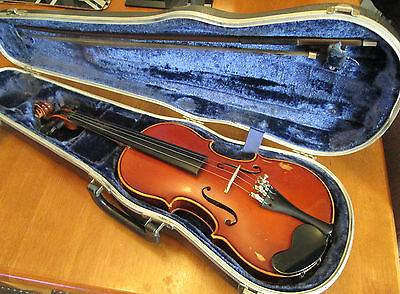 Western German Violin with Bow & Case 3/4 size