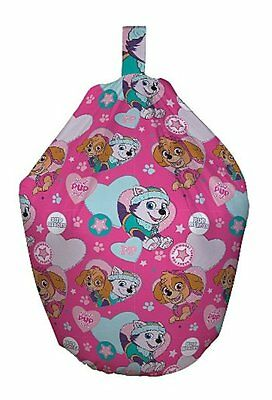 Paw Patrol Pals Pink 3ft Bean Bag Filled Chair Seat Bedroom Play Room