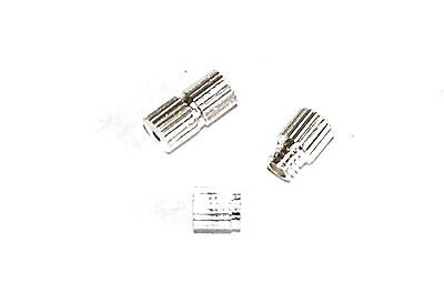 10 SILVER PLATED BRASS SMALL SCREW CLASPS JEWELLERY CRAFT CLASP - 6mm