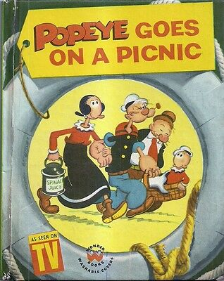 1958 Wonder Book Popeye Goes On A Picnic