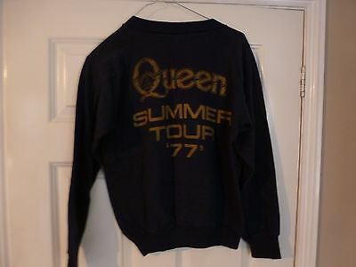 Queen, Freddie Mercury, Brian May, Roger Taylor, Original 1977 Tour Sweatshirt