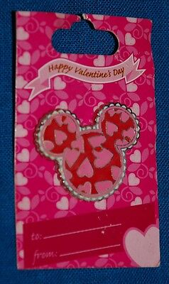 NEW ON CARD -pin DISNEY -MICKEY MOUSE ICON - HEARTS