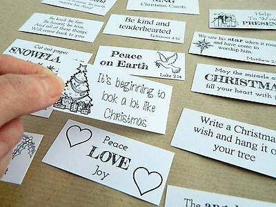 Traditional Christmas Advent Calendar Daily Quotes Inserts ~ Gift Tags ~ Labels