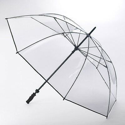 Fulton Clearview - Clear Golf Umbrella with Black Trim