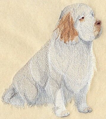 Large Embroidered Zippered Tote - Clumber Spaniel C4973