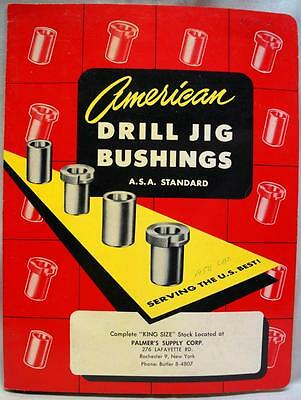 American Drill Jig Bushing Company Advertising Sales Brochure 1957 Vintage