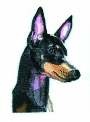 Large Embroidered Zippered Tote - Manchester Terrier BT4479