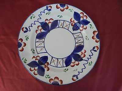Antique China :19th century pottery Gaudy Welsh PLATE - old OYSTER  Design