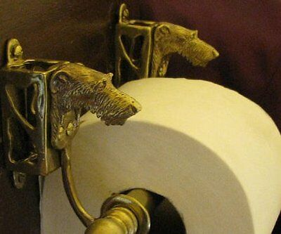 SCOTTISH DEERHOUND Bronze Toilet Paper Holder OR Paper Towel Holder!