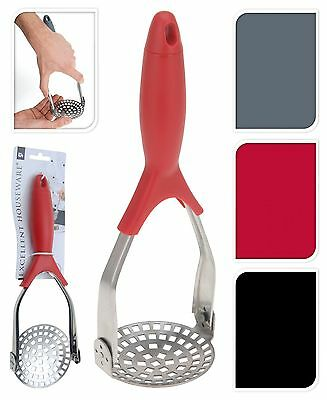 Fold Away Stainless Steel Potato Masher with Plastic Handle Vegetable Masher