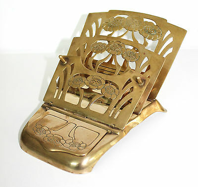 Art Nouveau, Ges.Gesch Germany, brass mechanical stamps & letter holder.