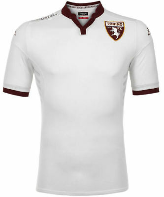 Kombat match Torino Turin Kappa Football Jersey Shirt Away Men White 2015 16