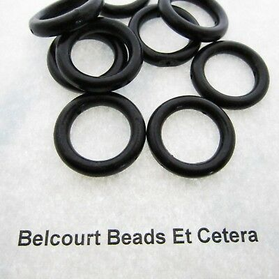 10 Beautiful Black Horn Beads - Side Drilled 25mm - Inside Diameter is Appx 15mm