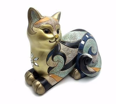Colourful Ornate Gallery Cat Figure Ornament Gift Boxed 18cm 60133