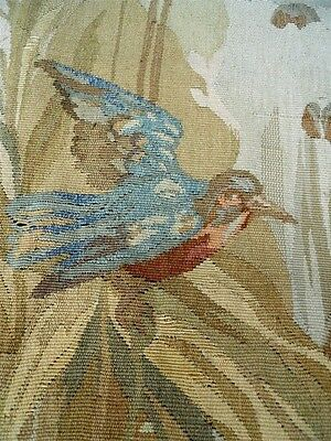 Other Aubusson Tapestry Antique French 19Th-Cent Chateau Bordeaux Bird Butterfly