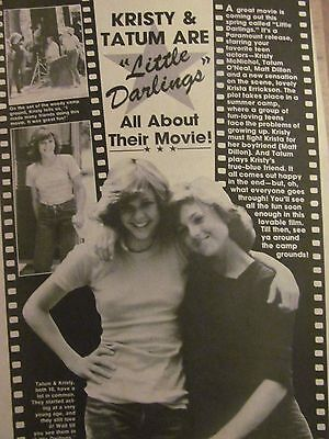 Kristy McNichol, Full Page Vintage Clipping, Little Darlings