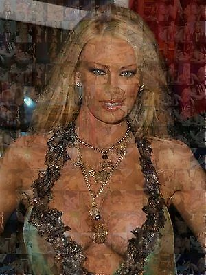 JENNA JAMESON photo mosaic cm. 30x41 poster with a lot of hot sexy pics