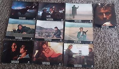 "Rutger Hauer THE HITCHER Original 14"" X 11"" UK FOH Lobby Card Set of 10 1986"