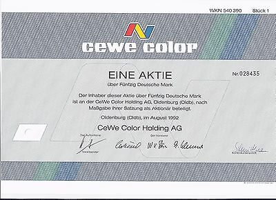 Aktie CeWe Color Holding AG  50 DM 1992 Oldenburg