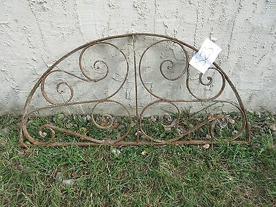 Antique Victorian Iron Gate Window Garden Fence Architectural Salvage #828