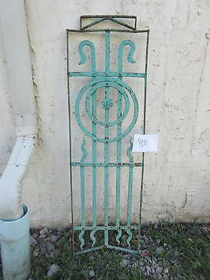 Antique Victorian Iron Gate Window Garden Fence Architectural Salvage #848