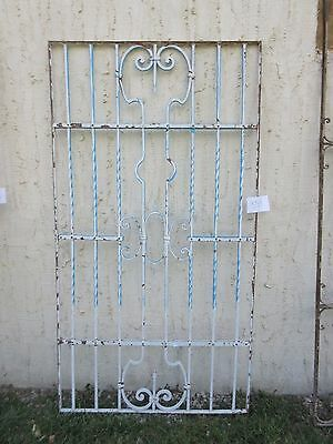 Antique Victorian Iron Gate Window Garden Fence Architectural Salvage #854