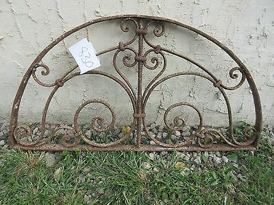 Antique Victorian Iron Gate Window Garden Fence Architectural Salvage #830