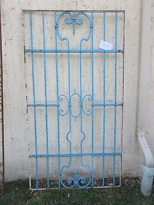 Antique Victorian Iron Gate Window Garden Fence Architectural Salvage #867