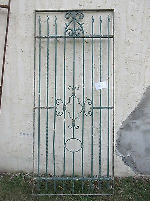 Antique Victorian Iron Gate Window Garden Fence Architectural Salvage #863