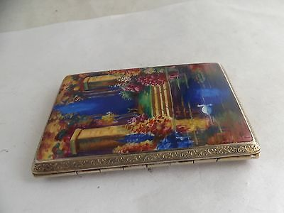 a fine enamel and gold cased cigarette case