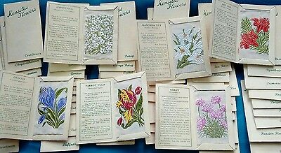Kensitas flowers Silk cigarette cards set of 60 by Wix issued 1934