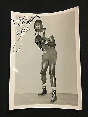 Boxer Luther Rawlings Autographed 5x7 Photo (RARE)