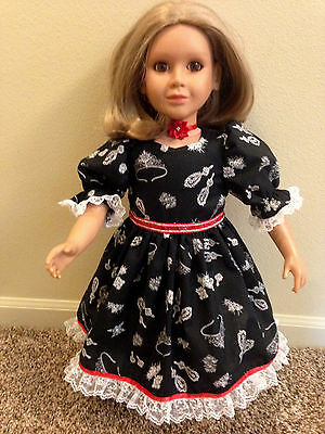 """ADORABLE DIAMONDS DRESS & RED NECKLACE made to fit the 23"""" MY Twinn DOLLS"""