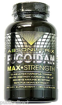 Absonutrix 500mg Fucoidan Pure Brown Seaweed Extract 120 Capsules Detox Pill