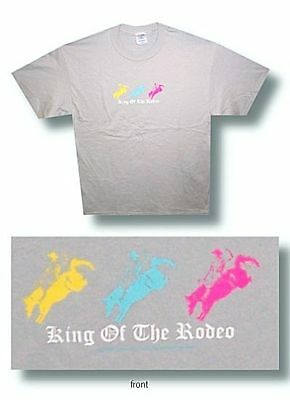 Kings Of Leon! King Of The Rodeo Grey T-Shirt Xl New