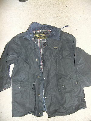 "Coat Jacket HAMILTON Devon BARBOUR Wax Jacket Weatherproof size 40"" 32"