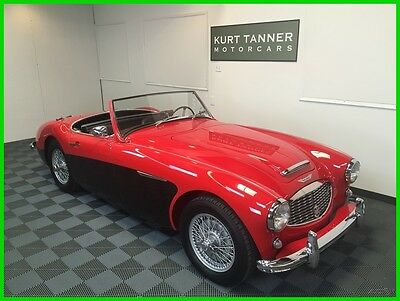 1958 Austin Healey 100-6 BN-6  1958 AUSTIN -HEALEY 100-6 BN-6 TWO-SEATER ROADSTER. RED/BLACK. 4-SPEED OVER TRAN