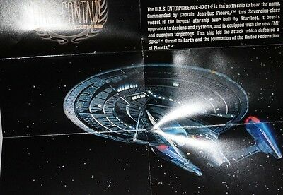 Star Trek First Contact Movie BLUEPRINT POSTER Card S1 USS Enterprise NCC-1701E