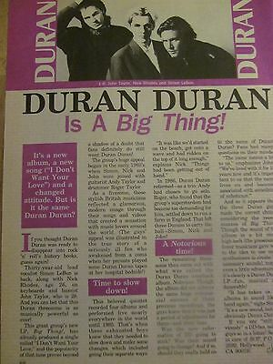 Duran Duran, Full Page Vintage Clipping