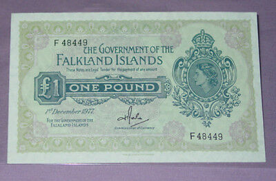 1977 FALKLAND ISLANDS ONE POUND BANKNOTE - Crisp Uncirculated