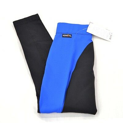 Kerrits Flow Rise Performance Riding Tights/Breeches - Royal Blue/Black - SALE