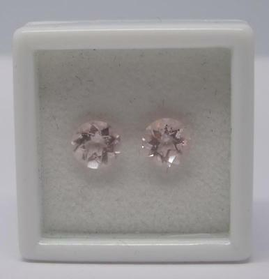 *1.47Ct Loose Natural Morganite Pair Of Gemstones*