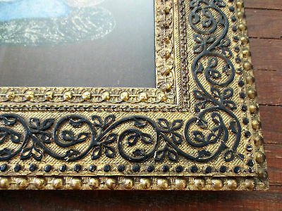 Antique Victorian Art Deco Gold Aesthetic Frame Gilded Wood Scroll Swan Painting