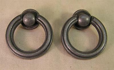 8 Vintage Style Oil Rubbed Nickel Drop Pulls Knobs Cabinet Furniture Hardware