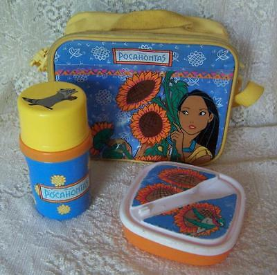 Vintage Disney POCAHONTAS Soft LUNCH BOX Insulated Bag THERMOS & SANDWICH KEEPER