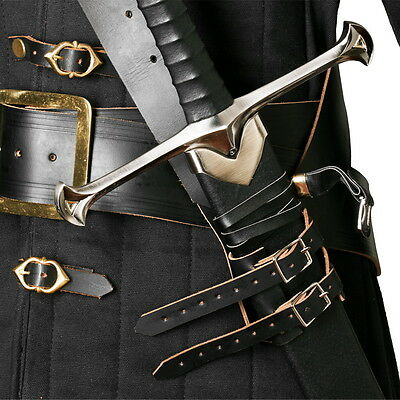 Genuine Leather Cross Shoulder Sword Belt Frog Hanger Baldric Medieval Costume