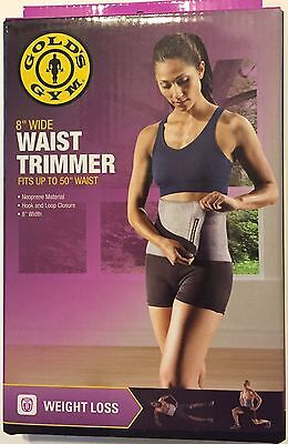"Gold's Gym Waist Trimmer Slimmer Belt Workout 50"" Weight Loss Exercise 8"" Sweat"