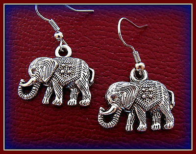 Handsome ELEPHANT Jewelry EARRINGS - Republican GOP theme - Detailed Design!