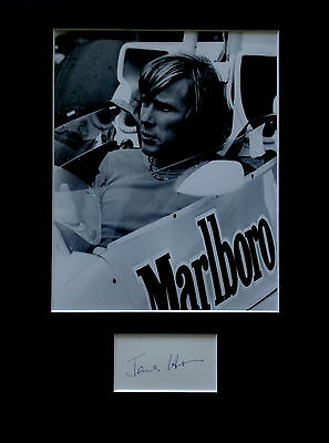 JAMES HUNT signed autograph PHOTO DISPLAY Formula One F1 racing driver